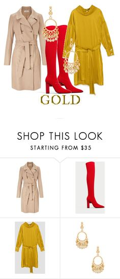"""Gold for it"" by fashionistasrock on Polyvore featuring Miss Selfridge and Ettika"