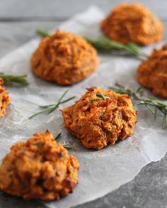 Sweet Potato Bacon Biscuits | runningtothekitchen.com