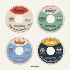 Vintage Graphic Design Sycamore Brewing Keg Collars - Visit the post for more. Cd Design, Badge Design, Album Design, Layout Design, Logo Design, Typography Layout, Graphic Design Typography, Vintage Graphic Design, Retro Design