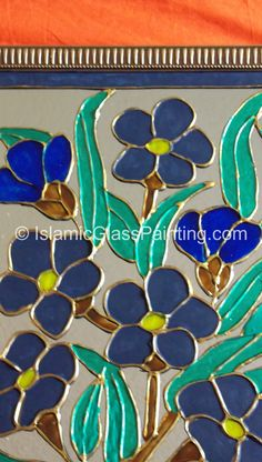 1000 images about islamic glass paintings on pinterest for What kind of paint to use on glass