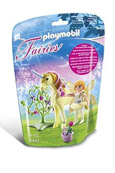 "PLAYMOBIL Flower Fairy with Unicorn ""Sun Beam"" Playset PL..."