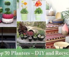 Top 30 Planters – DIY and Recycled