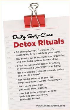 Daily Self-Care Detox Rituals  from Dr. Sara Gottfried