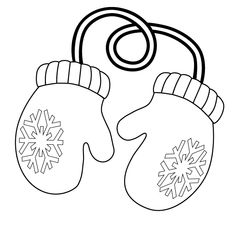 Mitten Coloring Page  Tl  winter  Pinterest  Mittens Craft
