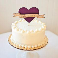 Cake topper corazón