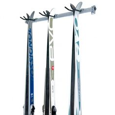 Sweet #cross-country ski rack. Holds 3 pairs of skis.