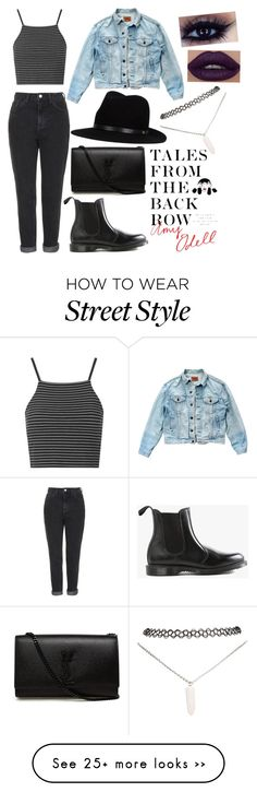 """NSFW Street Style"" by krysteleastmanxo on Polyvore featuring Topshop, Dr. Martens, Yves Saint Laurent, Levi's, rag & bone, Wet Seal, StreetStyle and talesfromthebackrow"