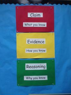 Claim, Evidence, Reasoning                              …                                                                                                                                                                                 More