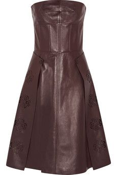 Alexander McQueen Laser-cut leather dress | NET-A-PORTER