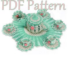 Tea Party Doily PDF Crochet Pattern by BellaCrochet on Etsy, $6.95