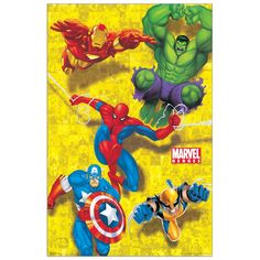 Marvel heroes 56x86 cm #artprints #interior #design #art #print #cartoon  Scopri Descrizione e Prezzo http://www.artopweb.com/categorie/cartoni/EC20866