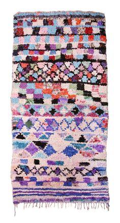Boucherouite Rug -  Purple Mix   Fossik via Design Sponge