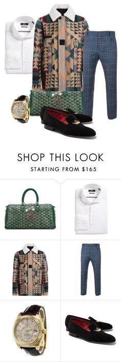 """Erratic Style"" by styledbyboogz on Polyvore featuring Goyard, BOSS Hugo Boss, Valentino, Vivienne Westwood Man, Rolex, Brooks Brothers, men's fashion, menswear and StyledByBoogz"