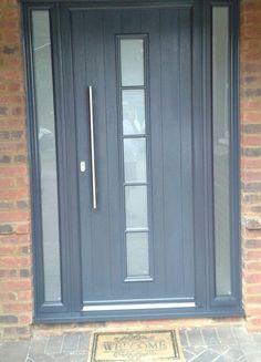 Gallery - The Urban Door Company Best Front Doors, Grey Front Doors, Front Door Colors, Porch Windows, Porch Doors, Windows And Doors, Contemporary Front Doors, Modern Door, Front Porch Design