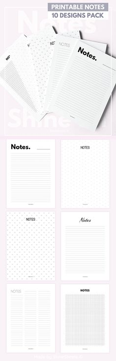 Printable Planner Notes.