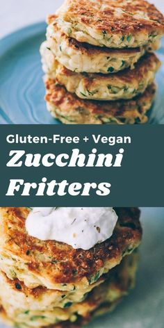 These easy, healthy Gluten-Free Vegan Zucchini Fritters are made with chickpea flour for added nutrition and depth. Packed with the perfect blend of spices, these delightful vegan fritters are beyond DELICIOUS, too!  Vegan Zucchini Fritters | Gluten Free Zucchini Fritters #zucchinifritters