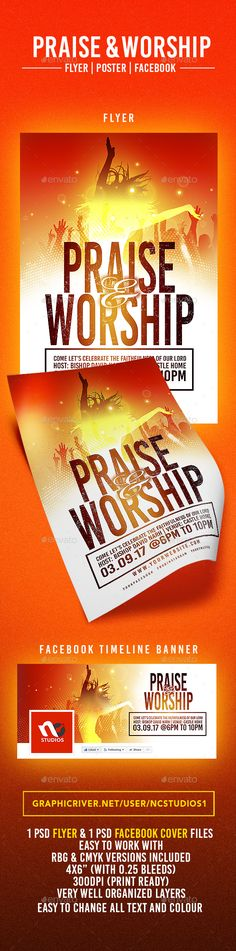 Praise & Worship #Flyer Template - Events Flyers