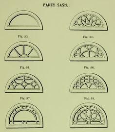 Fancy half-round windows from 1904 Rockwell Millwork catalog.