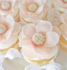Soft Pink Petals Cupcakes