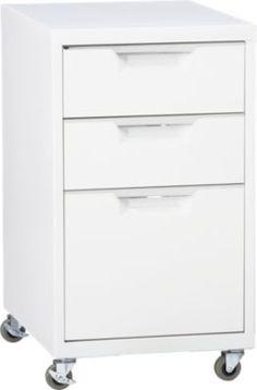 TPS white file cabinet in office furniture   CB2