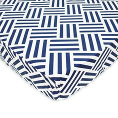 Found it at Wayfair.ca - Percale Navy Parquet Fitted Crib Sheet