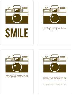 3x4 brown camera filler cards