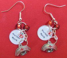 nurses rock earrings, just the little cap though, please Nurse Love, Rn Nurse, Nurse Stuff, Nursing Care, Nursing Notes, Staff Gifts, Nurse Gifts, Clara Barton, Rn Humor