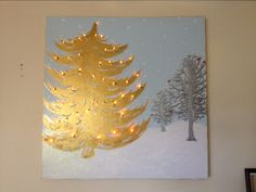a Whimsical Christmas: DIY Light-Up Christmas Canvas