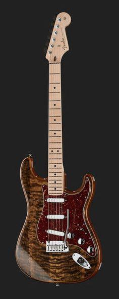 Fender Artisan Strat Spalted Maple MN Custom Shop Stratocaster Electric Guitar