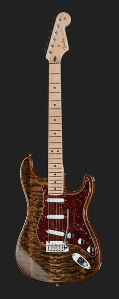 Fender Artisan Strat Spalted Maple MN Custom Shop Stratocaster Electric Guitar