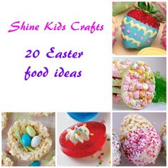 20 Easter Food Ideas - all are easy to make and cute!!