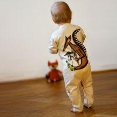 Süßer Baby Body, Strampler aus Bio Baumwolle, Schlafanzug / cute baby pyjama, bodysuit made by Cmig - Schwedisches Design aus Hannover via DaWanda.com