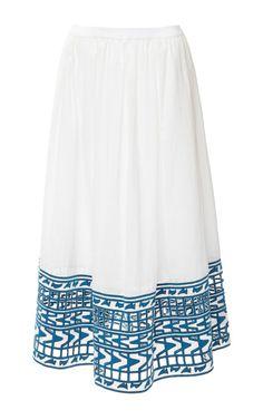 Embroidered Midi Skirt by Sea for Preorder on Moda Operandi