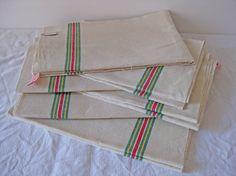 UNUSED stack  vintage tea towels