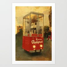 Retro Bakering Budapest Street Food Cart (based on Hungarian trolley bus) by Andras Balogh