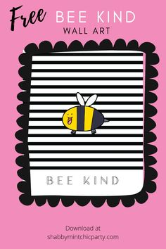 "Being kind to yourself and others is a very important social skills to teach kids. Simple kindness acts, such as saying,""Hi"" to someone can make that person happy for the whole day and even build new friendship.  Beautiful Bee Kind printable for your kids nursery or bedroom.  #beekind  #kind #bekind #kindness #love #compassion  #happiness #life #kindnessmatters #motivation #gratitude #positivity #positivevibes  #kind #covid  #selflove #quotes #selfcare #family #loveyourself #happy #freebee Pastel Party Decorations, Girl Baby Shower Decorations, Baby Shower Gifts For Boys, Baby Boy Shower, Home Wall Art, Nursery Wall Art, Business Motivational Quotes, Business Quotes, Cherish Quotes"