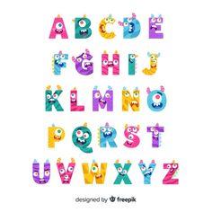Alphabet Letters Design, Graffiti Alphabet, Wedding Badges, Monster 1st Birthdays, String Art Templates, Funny Monsters, Monster Drawing, Monster Characters, Funny Drawings