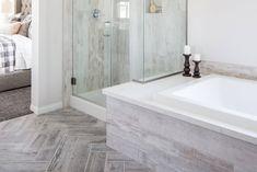 Master Bathroom Shower, Modern Master Bathroom, Small Bathroom, Bathroom Ideas, Bathrooms, Master Tub, Shower Walls, Master Baths, Bathroom Goals