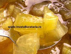 Dulceata din pepene galben Romanian Food, Preserves, Pickles, Cantaloupe, Potato Salad, Jelly, Snack Recipes, Good Food, Chips