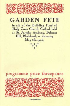 Pelican Press - Garden Fete, Holy Cross Church, Catford, May 5th 1923 by mikeyashworth,