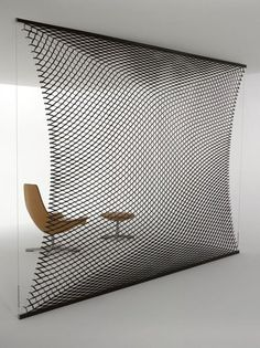 Tanned leather room divider T.NET by @Matteograssi matteograssi matteograssi | #design Franco Poli