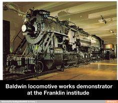 Baldwin locomotive works demonstrator at the Franklin institude