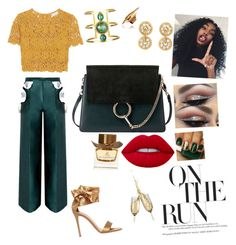 """""""Emerald Green in a classy way"""" by yummycaramel on Polyvore featuring Chloé, Miguelina, Burberry and Gianvito Rossi"""