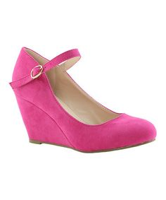 Another great find on #zulily! Fuchsia Denise Wedge #zulilyfinds