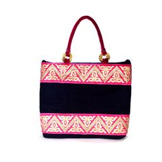 Beautiful Blue Velvet Golden Work Border Design Party Women Hand Made Hand Bag #ArishaKreation