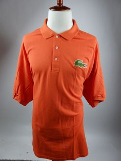 Lacoste Polo Orange Pique Golf Rugby Big Gator 5191L Shirt Men 4XLT 11L NEW $110 #Lacoste #PoloRugby