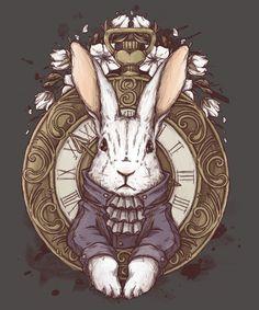 """The White Rabbit"" by xMorfina Inspired by Alice in Wonderland Alice Rabbit, Alice In Wonderland Rabbit, Alice And Wonderland Tattoos, Alice In Wonderland Illustrations, Alice In Wonderland Tea Party, White Rabbit Tattoo, Rabbit Tattoos, Rabbit Drawing, Rabbit Art"