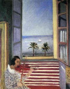 Young Woman Playing Violin - Henri Matisse