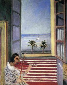Young Woman Playing Violin - Henri Matisse