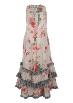 So love that fabric Boho Beautiful, Beautiful Outfits, Mori Fashion, Fashion Dresses, Romantic Outfit, Romantic Clothing, Shabby, Country Fashion, Lace Outfit